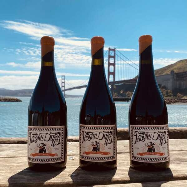 three bottles of Pinot Noir